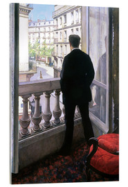 Akrylbillede  Man at the Window - Gustave Caillebotte