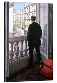 Print på aluminium  Man at the Window - Gustave Caillebotte