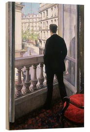 Print på træ  Man at the Window - Gustave Caillebotte