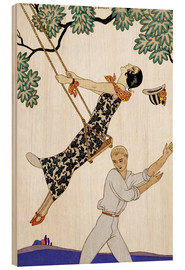 Print på træ  The Swing, 1920s - Georges Barbier
