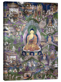 Lærredsbillede  Thangka of the Buddha - Tibetan School