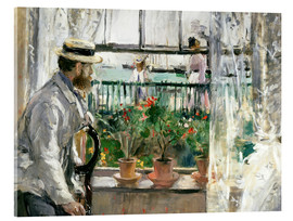 Akrylbillede  Manet on the Isle of Wight - Berthe Morisot