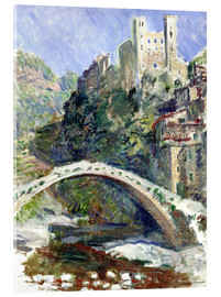 Akrylbillede  Castle of Dolceacqua - Claude Monet