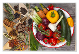 Premium-plakat Vegetables, Herbs and Spices III