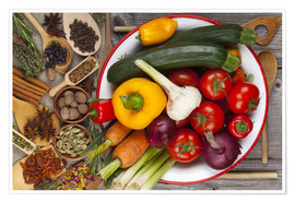 Premium-plakat Vegetables, Herbs and Spices IV
