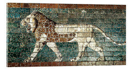 Akrylbillede  Lion mosaic at the temple of Babylon
