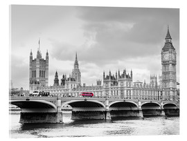 Akrylbillede  Westminster bridge with look at Big Ben and House of parliament - Edith Albuschat
