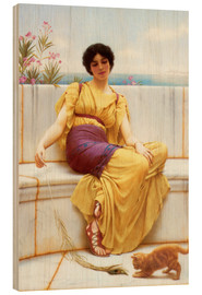 Print på træ  Idleness - John William Godward