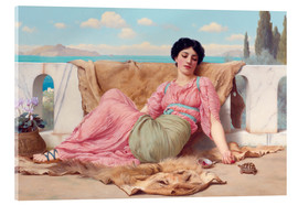 Akrylbillede  A Quiet Pet - John William Godward
