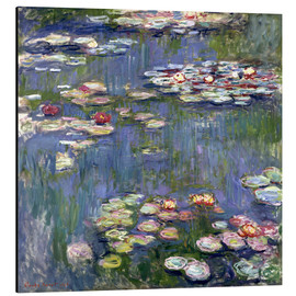 Print på aluminium  Haven i Giverny - Claude Monet
