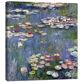 Lærredsbillede  Haven i Giverny - Claude Monet