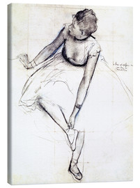 Lærredsbillede  Dancer Adjusting Her Slipper - Edgar Degas