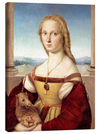 Lærredsbillede  Woman with an unicorn - Raffael