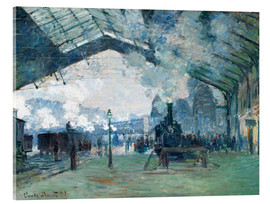 Akrylbillede  Saint Lazare Train Station: the train from Normandy - Claude Monet