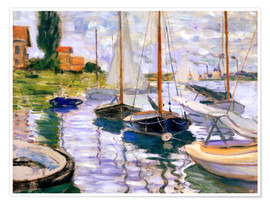 Premium-plakat  Sailboats on the Seine - Claude Monet
