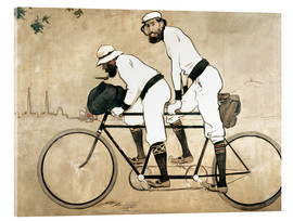 Akrylbillede  Ramon Casas and Pere Romeu on a Tandem - Ramon Casas i Carbo