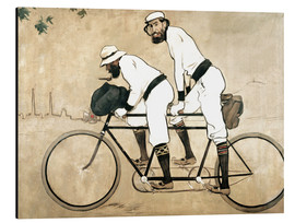Print på aluminium  Ramon Casas and Pere Romeu on a Tandem - Ramon Casas i Carbo