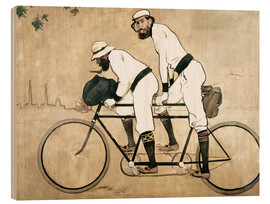 Print på træ  Ramon Casas and Pere Romeu on a Tandem - Ramon Casas i Carbo