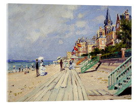 Akrylbillede  The beach at Trouville - Claude Monet