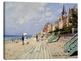 Lærredsbillede  The beach at Trouville - Claude Monet