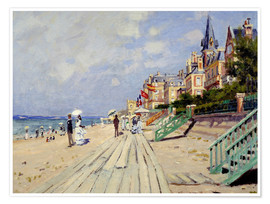 Premium-plakat  The beach at Trouville - Claude Monet