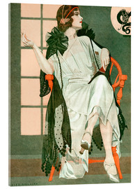 Akrylbillede  Lady writing - Clarence Coles Phillips