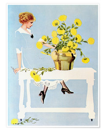 Premium-plakat  Housekeeper with bouquet - Clarence Coles Phillips
