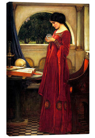 Lærredsbillede  The Crystal Ball - John William Waterhouse