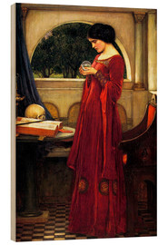 Print på træ  The Crystal Ball - John William Waterhouse