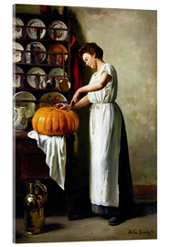 Akrylbillede  Carving the pumpkin - Franck Antoine Bail