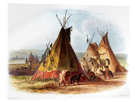 Akrylbillede  Camp of Native Americans - Karl Bodmer
