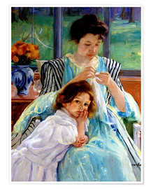 Premium-plakat  mother and child - Mary Stevenson Cassatt