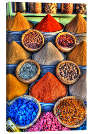 Lærredsbillede  Colorful spices on the bazaar in Marrakech - HADYPHOTO
