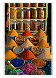 Premium-plakat Spices from Morocco