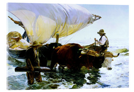 Akrylbillede  Return from Fishing - Joaquín Sorolla y Bastida