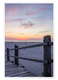 Premium-plakat  Jetty into the sea from St Peter Ording - Dennis Stracke
