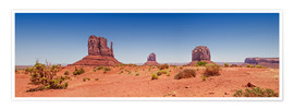 Premium-plakat Monument Valley USA Panorama I