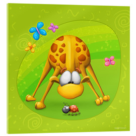 Akrylbillede  Giraffe with beetle - Tooshtoosh