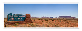 Premium-plakat Monument Valley USA Panorama III