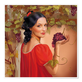 Premium-plakat Red wine
