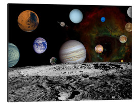 Print på aluminium  Montage of the planets