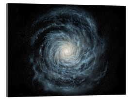 Akrylbillede  face-on view of the Milky Way - Ron Miller