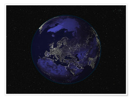Premium-plakat Earth at night - Europe