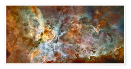 Premium-plakat The central region of the Carina Nebula