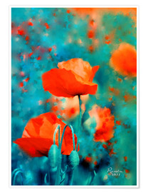 Premium-plakat Poppies