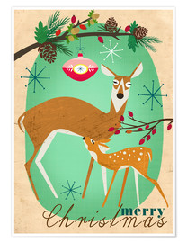 Premium-plakat Merry Christmas Deer