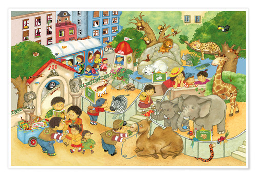 Premium-plakat Little Zoo