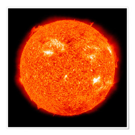 Premium-plakat Solar activity on the Sun