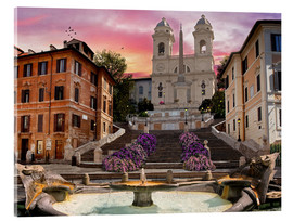 Akrylbillede  Piazza Di Spagna with the Spanish Steps - Dominic Davison