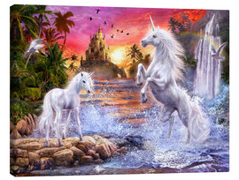Lærredsbillede  Unicorn waterfall sunset - Jan Patrik Krasny